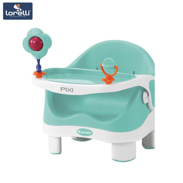 Lorelli - Столче за хранене PIXI Green&White 1010028