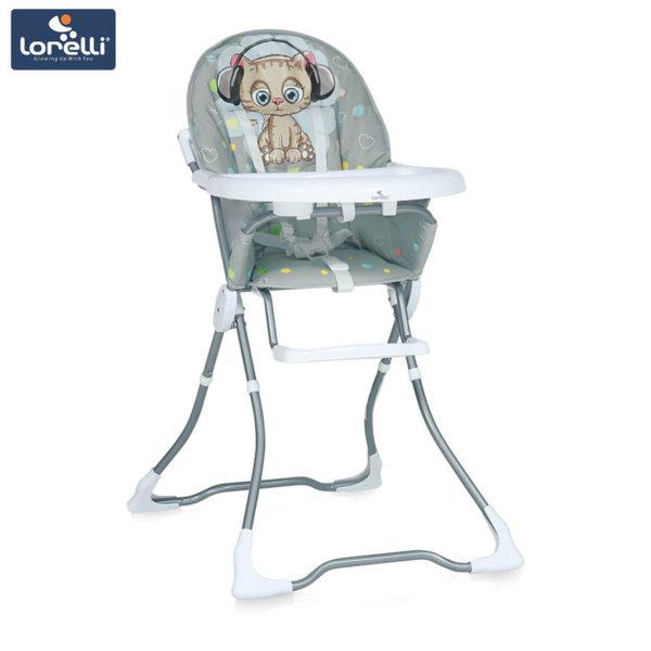 Lorelli - Столче за хранене MARCEL Grey Cute Kitten 1010032