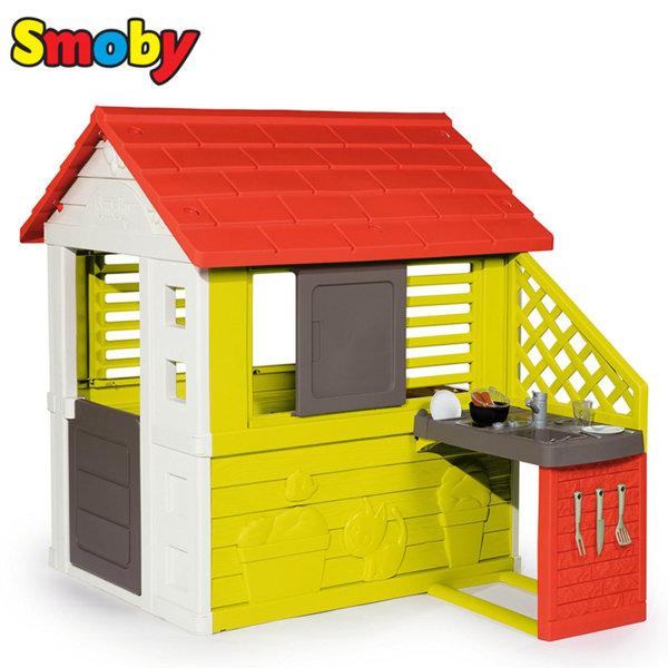 Smoby - Детска къща за игра с кухня 810702