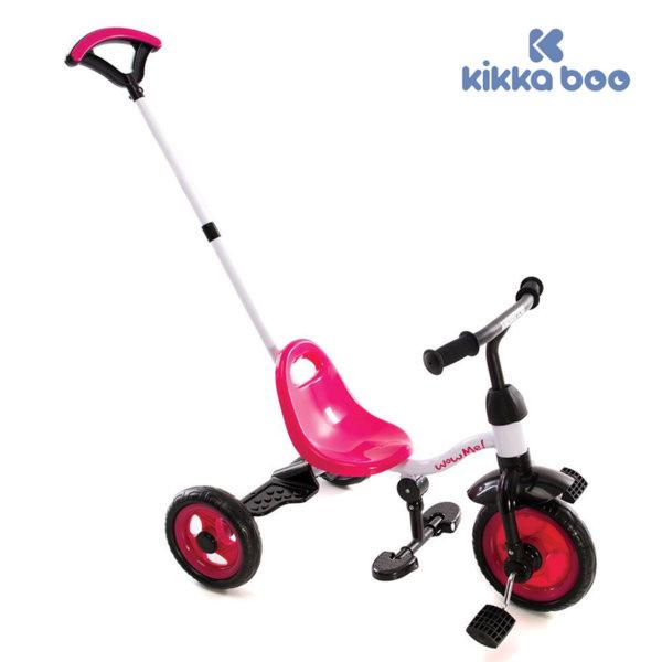 Kikka Boo - Триколка с дръжка за възрастен WOW ME Pink 31006020032