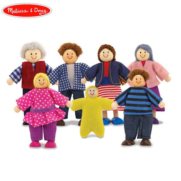 Melissa&Doug - Дървени кукли Семейство 12464