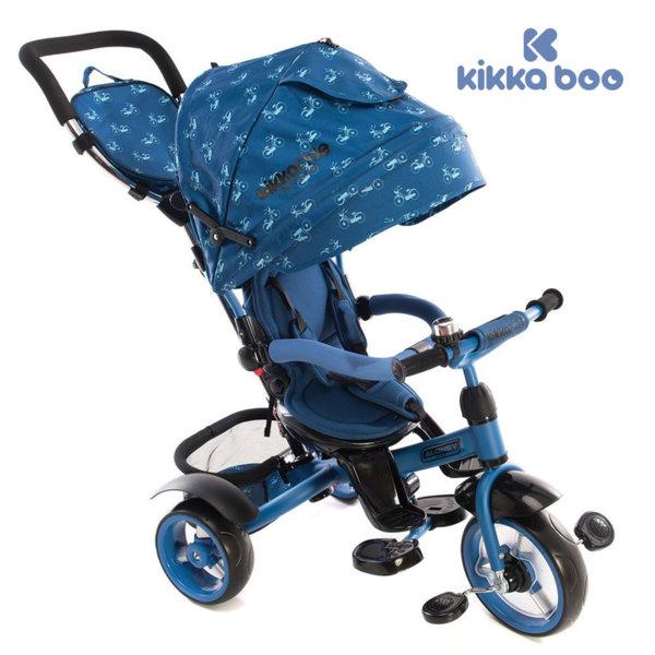 Kikka Boo - Триколка със сенник и въртяща се седалка 4в1 Alonsy Blue Bikes 31006020027