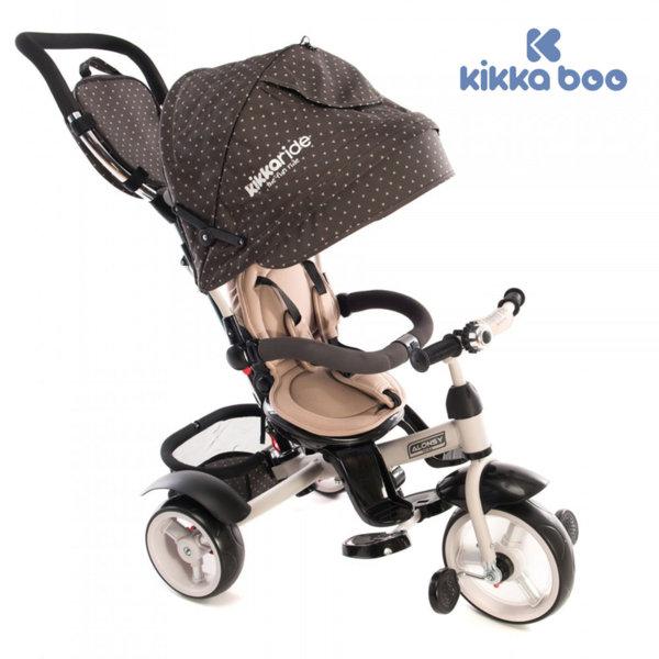 Kikka Boo - Триколка със сенник и въртяща се седалка 4в1 Alonsy Beige triangle 31006020028