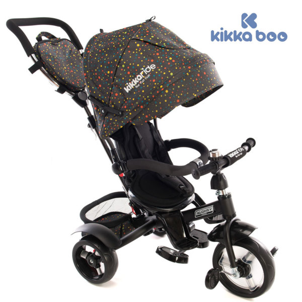 Kikka Boo - Триколка със сенник и въртяща се седалка 4в1 Alonsy Dots 31006020029