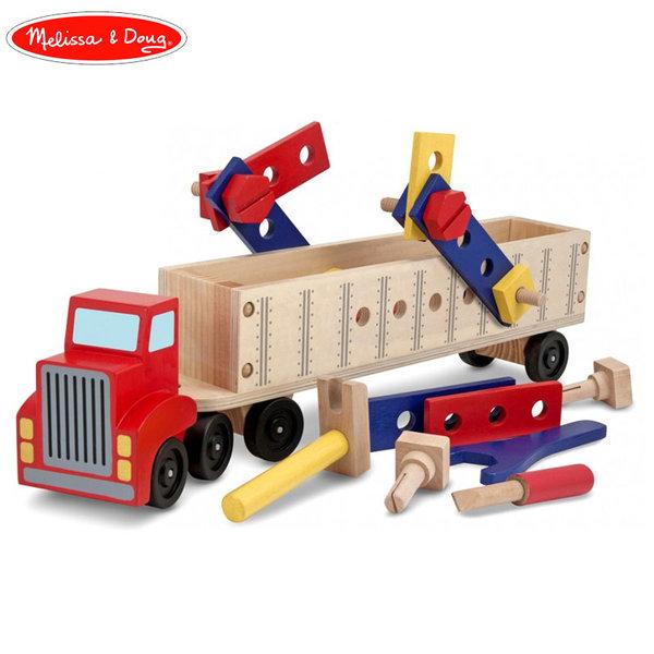 Melissa&Doug - Дървена играчка Тир с инструменти 12758