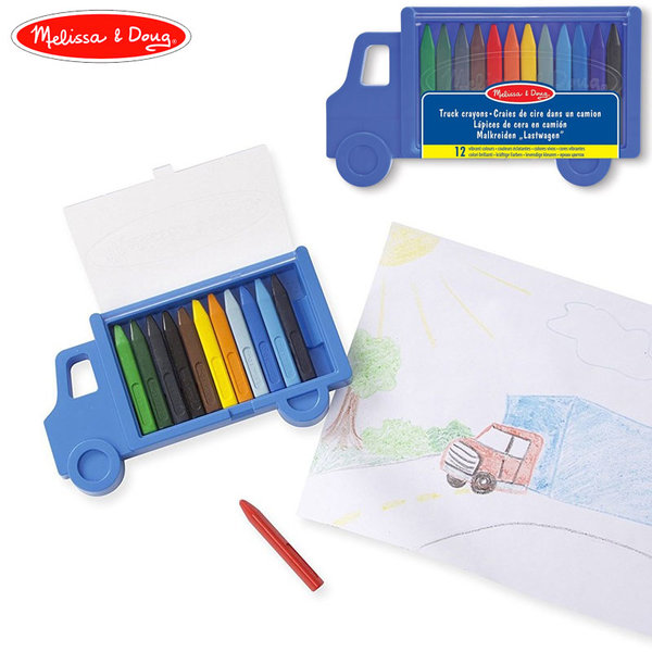 Melissa&Doug - Цветни пастели Камион 14159