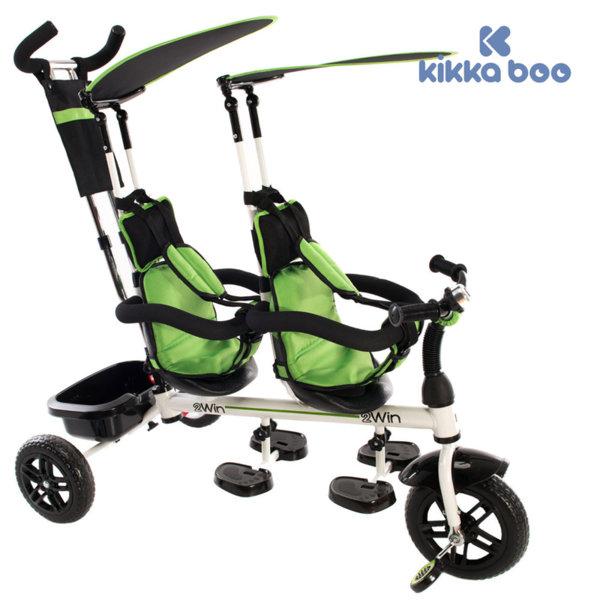 Kikka Boo - Триколка за две деца 2WIN Green 31006020034