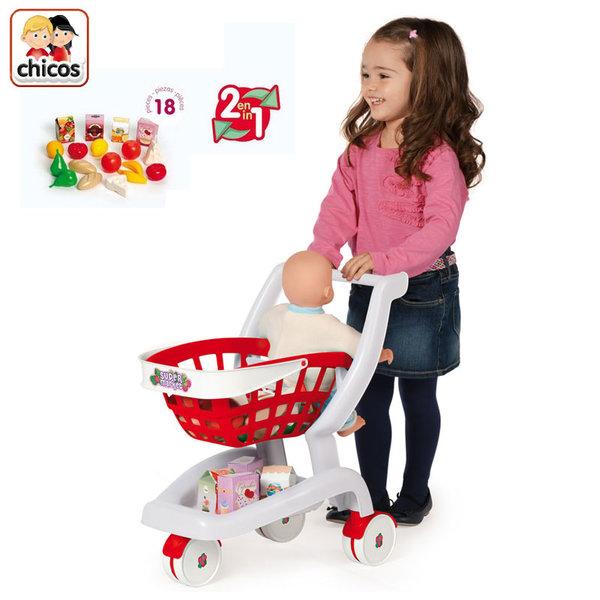 Chicos - Детска пазарска количка 2в1 84153