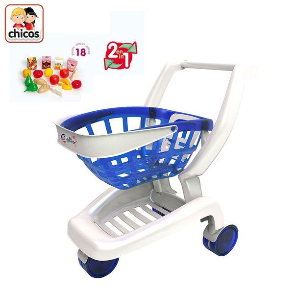 Chicos - Детска пазарска количка 2в1 84156