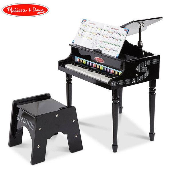 Melissa&Doug - Дървен детски роял със столче 11315