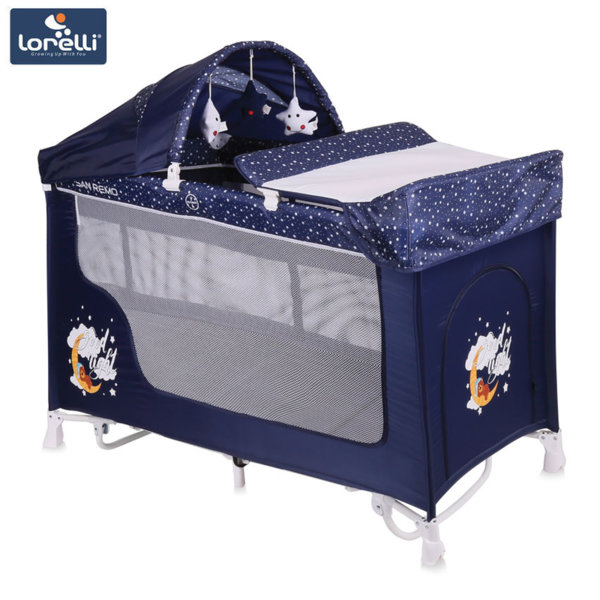 Lorelli - Кошара SAN REMO 2 Нивa + Rocker BLUE GOOD NIGHT BEAR 100800918