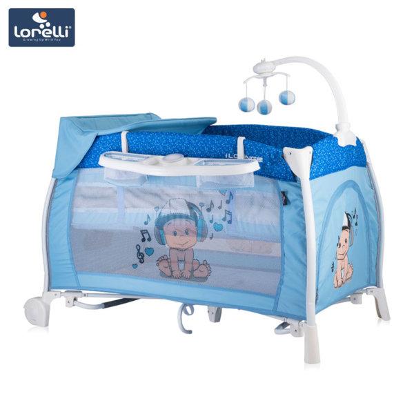 Lorelli - Бебешка кошара iLOUNGE 2 нивa Blue Music Boy 10080021810