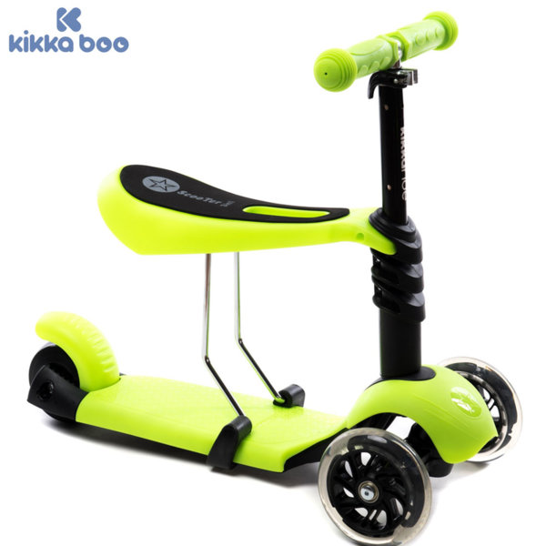 Kikka Boo - Детска тротинетка 3в1 Ride and Skate Green 31006010003