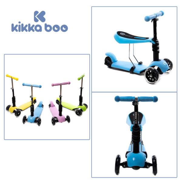 Kikka Boo - Детска тротинетка 3в1 Ride and Skate Blue 31006010002