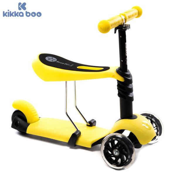 Kikka Boo - Детска тротинетка 3в1 Ride and Skate Yellow 31006010004