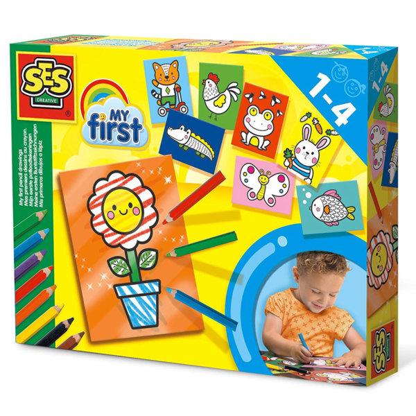SES Creative - Комплект за оцветяване с моливи 14425