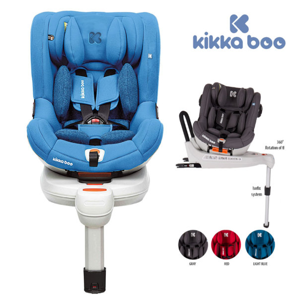 Kikka Boo - Стол за кола от 0 до 18 кг Roll & Go с Isofix Light blue 31002030018