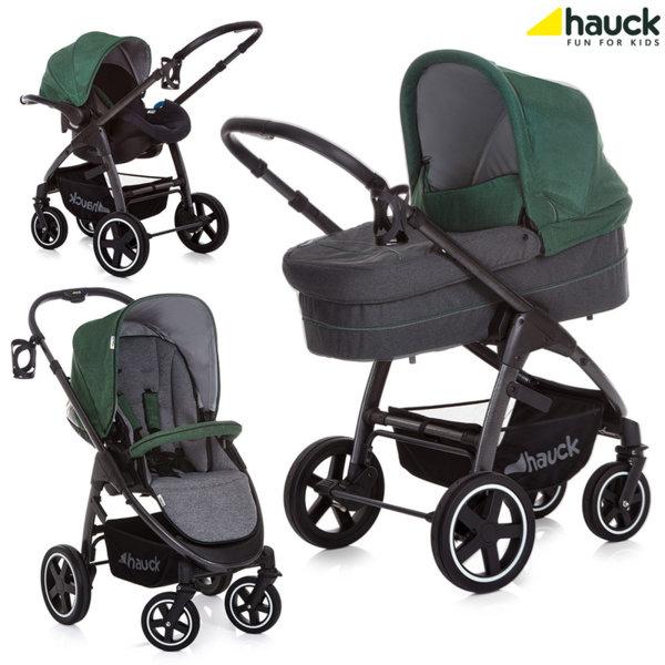 Hauck - Бебешка количка 3в1 Soul Plus Trio Set Emerald 143193