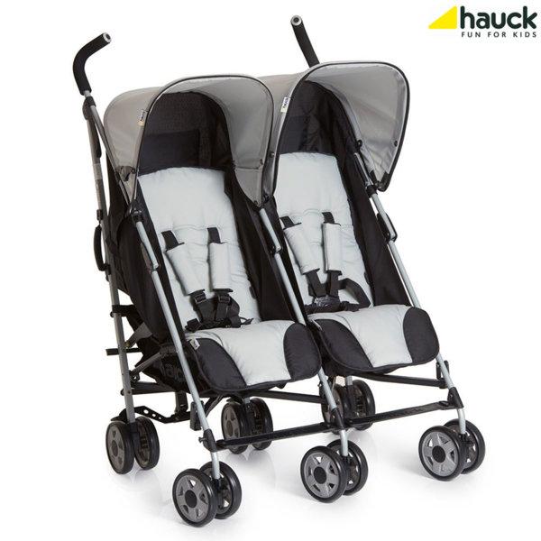 Hauck - Количка за близнаци Turbo Duo Caviar Stone 139042