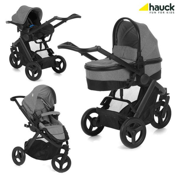 Hauck - Бебешка количка триколка 3в1 Maxan 3 Plus Trio Set Melange Stone 403105