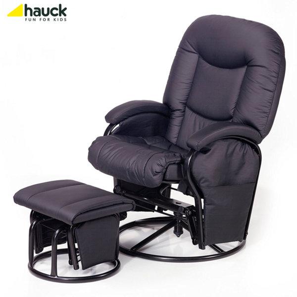 Hauck - Cтoл зa къpмeнe Metal Glider Recline black 687024