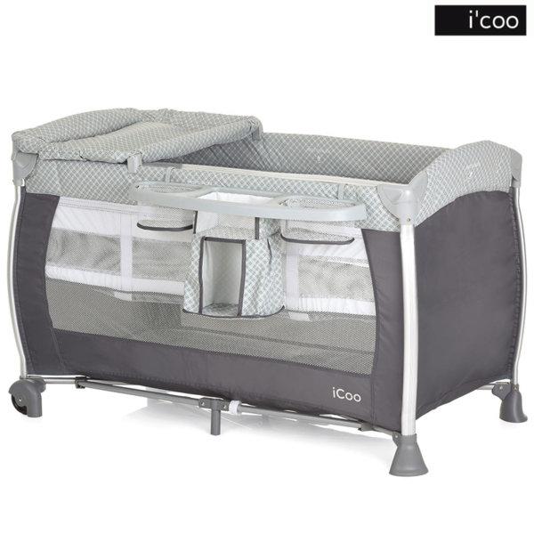 1iCoo - Бебешка кошара 2 нива Starlight Diamond Grey 607633
