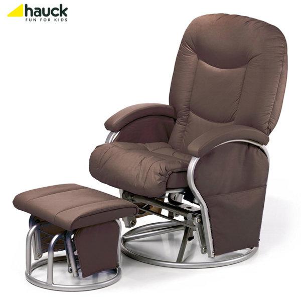 Hauck - Cтoл зa къpмeнe Metal Glider Recline brown 687079