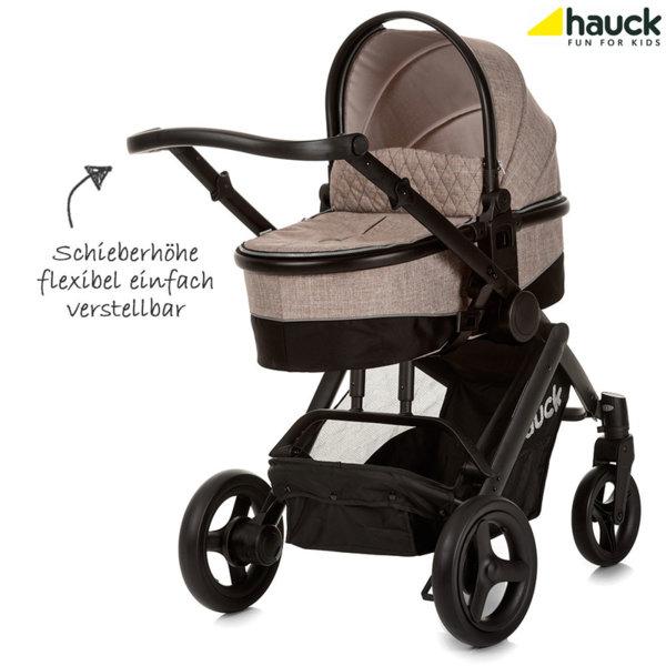 Hauck - Бебешка количка 3в1 Maxan 4 Plus Trio Set Melange/Sand 403587