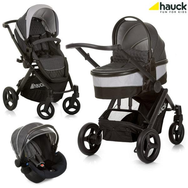 Hauck - Бебешка количка 3в1 Maxan 4 Plus Trio Set Melange/Charcoal 403570