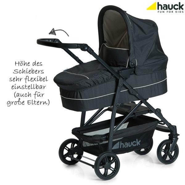 Hauck - Бебешка количка 3в1 Rapid 4 Plus Trio set Caviar/Beige 149539