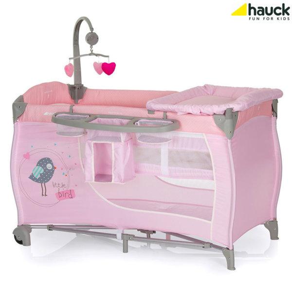 Hauck - Бебешка кошара 2 нива Babycenter Birdie Grey 607596