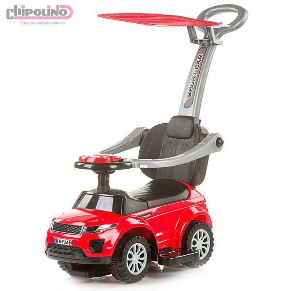 Chipolino - Кола за яздене със сенник и родителски контрол РР Макс червена