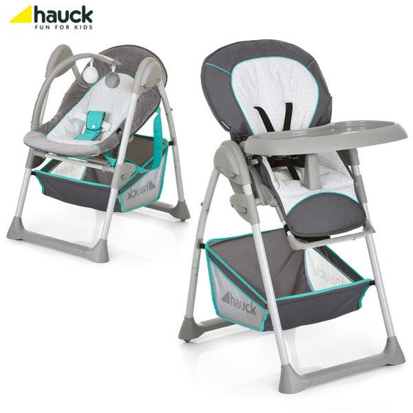 Hauck - Cтoл зa хранене и шезлонг 2в1 Sit'n Relax Hearts 665091