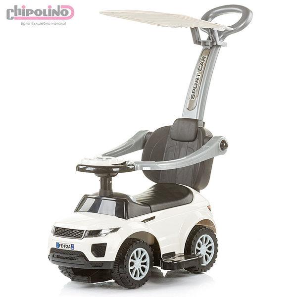 Chipolino - Кола за яздене със сенник и родителски контрол РР Макс бяла