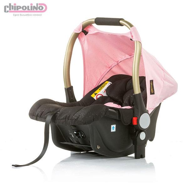 Chipolino - Столче за кола с адаптори Сенси (0-13кг) розово