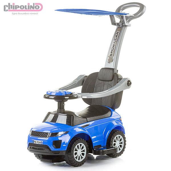 Chipolino - Кола за яздене със сенник и родителски контрол РР Макс синя