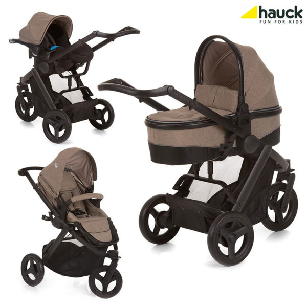 Hauck - Бебешка количка триколка 3в1 Maxan 3 Plus Trio Set Melange Sand 403112