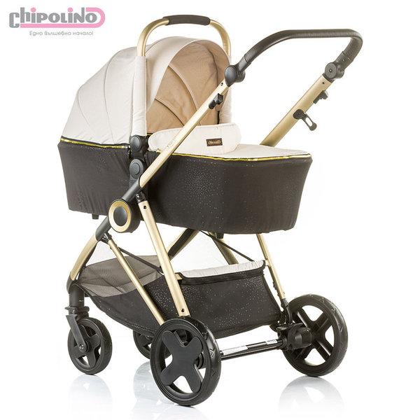 Chipolino - Бебешка количка Сенси 2в1 с твърд кош фрапе