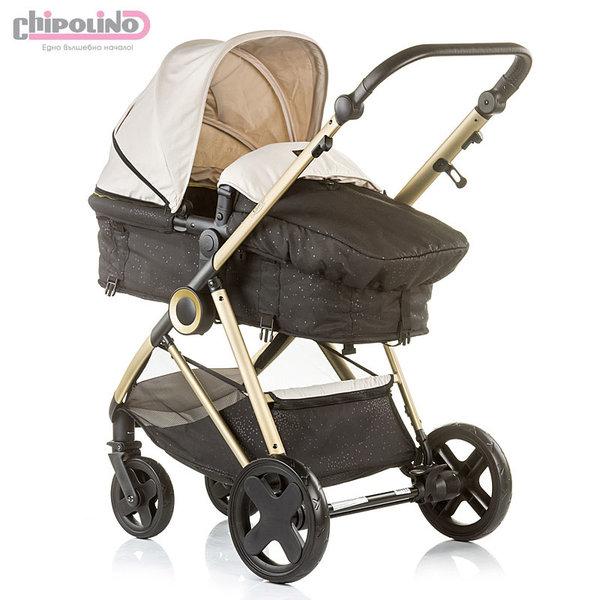 Chipolino - Бебешка количка Сенси 2в1 с трансформираща седалка фрапе