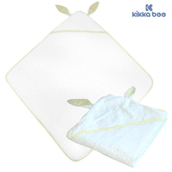 Kikka Boo - Бебешка хавлия с качулка и ушички 80/80 Бежов кант 31104010003