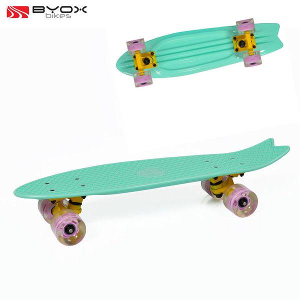 "Byox Bikes - Скейтборд Pastel със светещи колела 23"" зелен 104063"