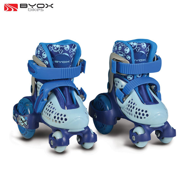 Byox Bikes - Детски ролкови кънки светещи Little Beetle Blue Boy XS (26-29) 106331