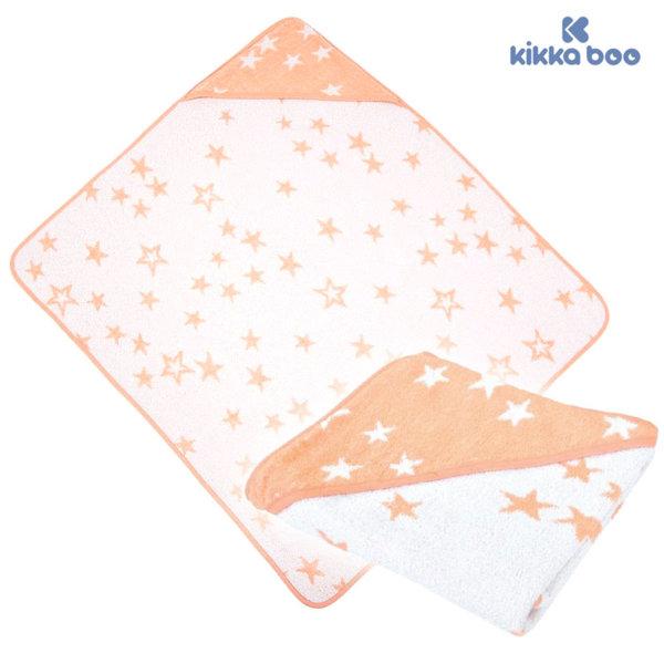 Kikka Boo - Бебешка хавлия с качулка 80/90 STARS Розова 31104010007