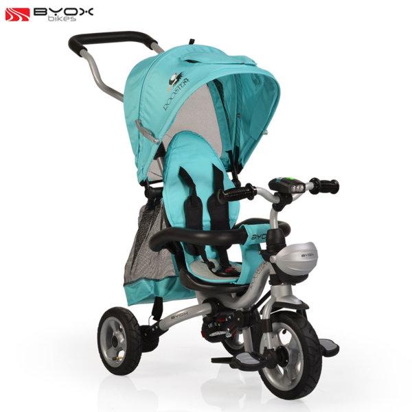 Byox Bikes - Триколка със сенник и родителски контрол ROOSTER Тюркоаз 106314