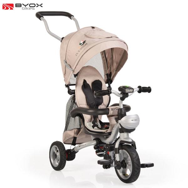 Byox Bikes - Триколка със сенник и родителски контрол ROOSTER Бежова 106313
