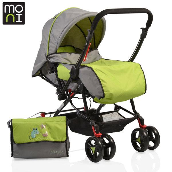 Moni - Комбинирана детска количка Mina зелена 101308