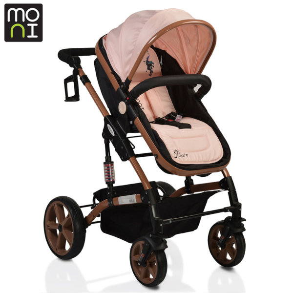 Moni - Комбинирана детска количка Pavo перла 106382