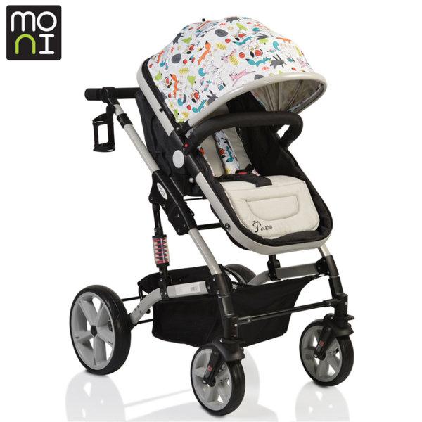 Moni - Комбинирана детска количка Pavo сива 106383