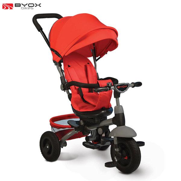 Byox Bikes - Триколка със сенник и родителски контрол King червена 106321