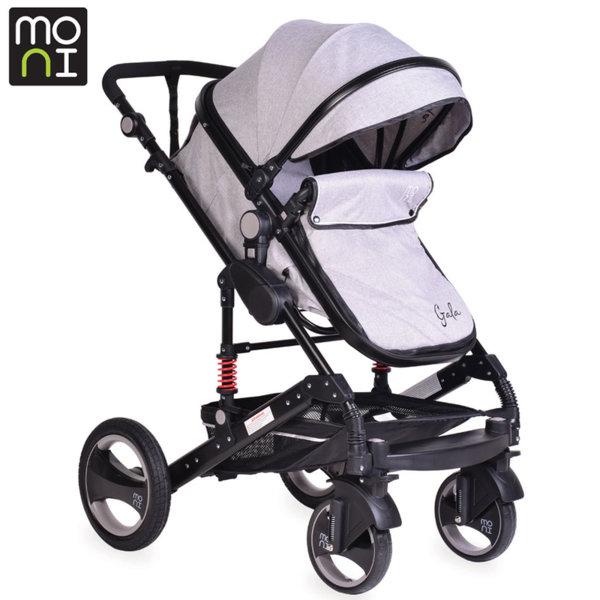 Moni - Комбинирана детска количка Gala сива 104043